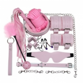 10 piece 2 tone BDSM kit