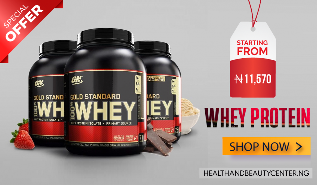 BUY WHEY PROTEIN ADVERT BY HEALTH AND BEAUTY CENTER